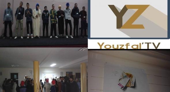 """أزيلال : مجموعة """" youzfal tv """" تشعل مسرح مركز تقوية قدرات الشباب بإبداعها المميز"""