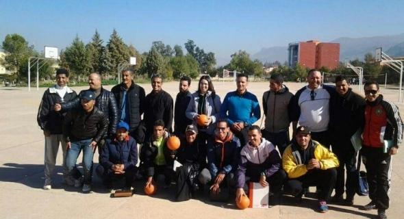 استفادة 42 أستاذا و أستاذة لمادة التربية البدنية بإقليم بني ملال  من دورة تكوينية في مجال التحكيم