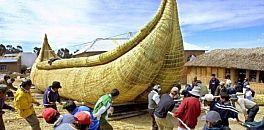 """قارب خيزران يعبر المحيط الهادي في """"رحلة تاريخية"""""""