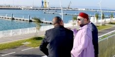 الملك محمد السادس يدشن ميناء الصيد البحري والميناء الترفيهي بطنجة