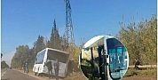 بالصور… عاوتاني فلتنا من فاجعة… هلع وذعر بين ركاب حافلة للنقل الحضري القروي وهذا ما وقع