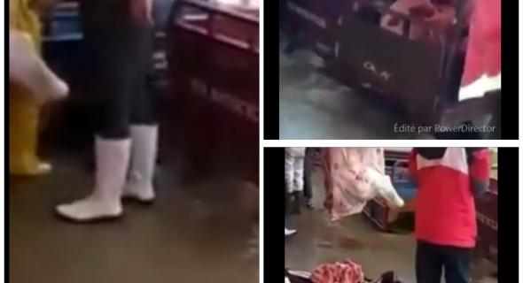 خطير… جمعية حقوقية تفضح نقل اللحوم على متن التريبورتورات والعربات اليدوية وبطريقة غير صحية ببني ملال – الصور من الفيديو-