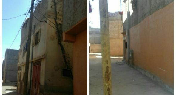 ساكنة الحربولية ببني ملال تشتكي من الأسلاك الكهربائية وتطال المكتب الوطني للكهرباء باصلاح الوضع