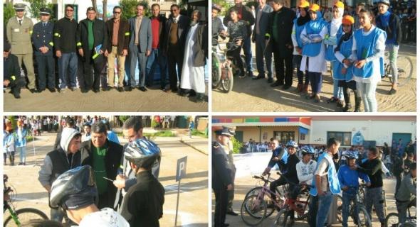 الثانوية الاعدادية ابن تومرت باغرم العلام تحتفل باليوم الوطني للسلامة الطرقية