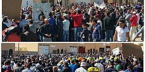 وقفة حاشدة للجالية المغربية باسبانيا تندد بمقتل شاب على يد الشرطة وتقصف القنصلية والسفارة المغربية -فيديو حصري-