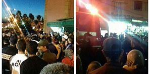"""الفراشة يحتجون ببني ملال ومواطنون يتضامون ويصرحون لتاكسي نيوز :"""" الوالي خاص يدير ليهم حل واش يموتو بجوع واش يسرقو"""""""