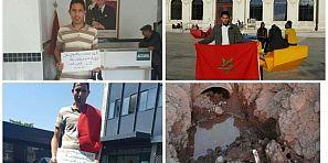 الحكرة والتهميش يدفع شاب من أعالي جبال تاكلفت بأزيلال للاحتجاج أمام قنصلية المغرب بفرنسا