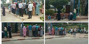 عاجل… عائلات المغاربة المحتجزين بليبيا تنظم وقفة احتجاجية أمام ولاية جهة بني ملال وتطالب باطلاق سراحهم