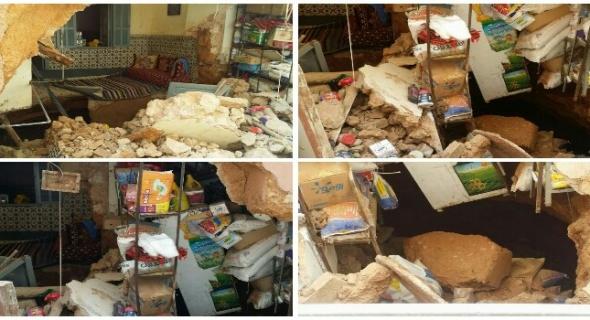 بالصور فلتنا من فاجعة… انهيار منزل ومحل تجاري بالغديرة الحمراء ببني ملال ونجاة الساكنة وهذه التفاصيل