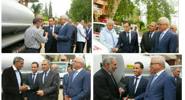 مجلس جهة بني ملال خنيفرة يوزع مجموعة من الحافلات والشاحنات لدعم الجماعات الترابية