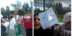 """بالفيديو… """"العافية"""" في أسعار فواتير الكهرباء يخرج مجموعة من النسوة ببني ملال للاحتجاج وصرخة مؤثرة لمحتجة"""