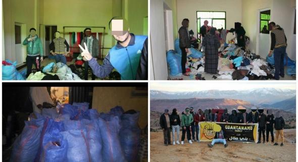 """مجموعة غوانتانامو فاميلي الفيسبوكية""""فرع بني ملال"""" تدخل الفرحة في نفوس ساكنة الجبل وتقدم اعانات ل92 أسرة"""