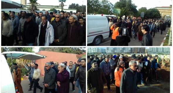 بالصور… تشييع جنازة الراحل أمل السامي صحافي المسائية بمقبرة الرحمة بالدار البيضاء في جو جنائزي مهيب