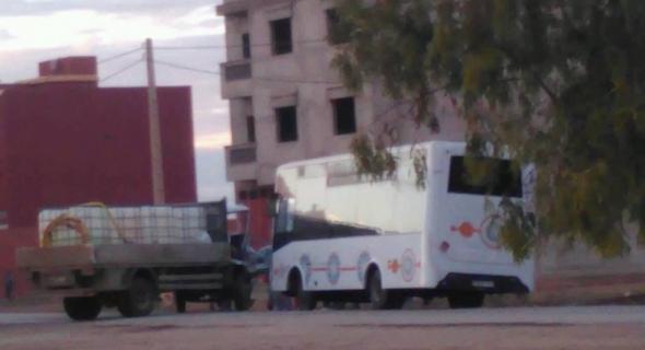 """السلامة… حادثة بين شاحنة لبيع جافيل و""""طوبيس"""" تخلف خسائر فادحة وذعرا بين الركاب + صورة"""