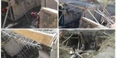 فرشة بالصور !!… سقوط قنطرة في طور البناء ببوتفردة اقليم بني ملال ومطالبة بفتح تحقيق