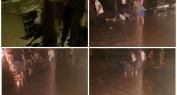 شوهة بالفيديو … أمطار طوفانية تشهدها بني ملال وشباب ينوبون عن السلطات ويفتحون المجاري وينقدون منازلهم من الغرق
