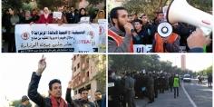 اساتذة الزنزانة 9 يحتجون ويربكون أشغال المجلس الاداري لأكاديمية التعليم بجهة بني ملال خنيفرة