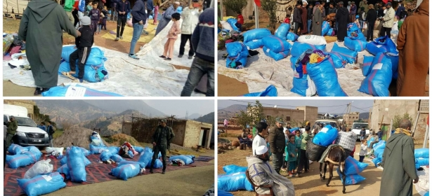مزال الخير… جمعية بيت الخير تنظم قافلة إنسانية لجبال أزيلال وتوزع أزيد من 170 كيس من الملابس على 78 أسرة وفرحة كبيرة بين الأطفال والأمهات