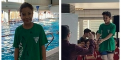 """""""ملاك أشقير"""" ابنة أفورار تفوز ببطولة في السباحة بكتالونيا ومواهب لأبناء الجالية المغربية تحتاج الدعم والاهتمام"""