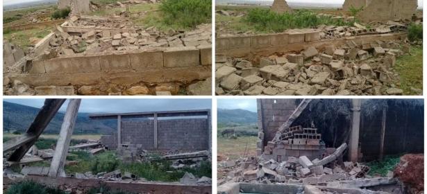 """سلطات بني ملال تشن حملة غير مسبوقة وواسعة على البناء العشوائي وهدم عشرات البنايات والمتضررون يصرخون:""""وااابسطو لمساطير"""" -الصور-"""