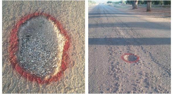 أصحاب السيارات يشتكون من حفر و مخاطر بالطريق الرابط بين تيموليلت و اولاد امبارك