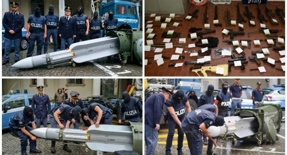 أجهزة الإستخبارات الإيطالية تضبط أسلحة وصاروخبحوزة يمينيين متطرفين بتورينو – الصور-