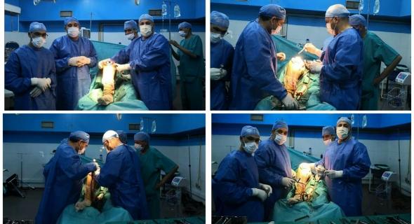 مبادرة مزيانة… عمليات جراحية بالمستشفى الجهوي ببني ملال يجريها فريق طبي يرأسه أطباء العظام ايت سلطانة والمظفر وساموس -صور-