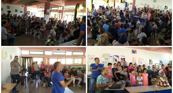 مؤسسة الابداع الفني والأدبي ببني ملال تحتفي باليوم العالمي للمدرس بحضور غفير للتلاميذ والتلميذات