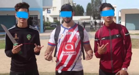 لبسالات تقود للسجن… 5 شبان يظهرون في فيديو يهددون جماهير اتحاد طنجة والأمن يعتقلهم -بلاغ-