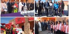عامل إقليم الفقيه بن صالح يعطي الانطلاقة الرسمية لفعاليات الدورة الأولى للمسابقات الثقافية والرياضية لأولاد عياد المنظمة بشراكة مع المديرية الإقليمية لقطاع التربية الوطنية