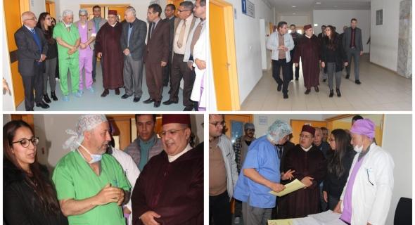 قافلة طبية واسعة في مختلف التخصصات باقليم خنيفرة وانجاز 60 عملية جراحية وعامل خنيفرة يزور المستشفى الإقليمي -صور-