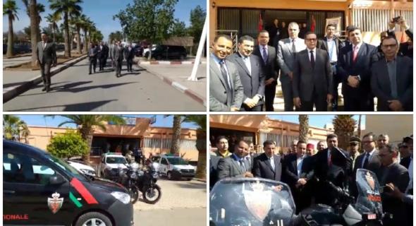 بالفيديو… محمد قرناشي عامل إقليم الفقيه بن صالح يسلم 5 سيارات ودراجتين ناريتين لشرطة المدينة