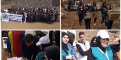 جمعية سارة ماماتي تنظم نشاطا تضامنيا وترفيهيا و تدخل الفرحة في نفوس أطفال جبال تاكلفت بأزيلال