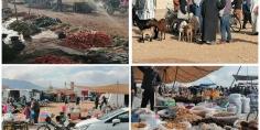 إقبال تدريجي على السوق الأسبوعي الجديد بأولاد يوسف اقليم بني ملال والجماعة تُراهن على زُوار وباعة الجماعات المجاورة -صور-