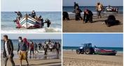 بالفيديو… لحظات تُوثق سجدة الشُّكر لمغاربة وصلوا شواطئ إسبانيا والأمن الإسباني يحاصرهم