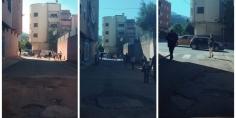 ساكنة حي المظهر تُطالب المسؤولين ببني ملال بإصلاح الحفر  بالطريق=صور=