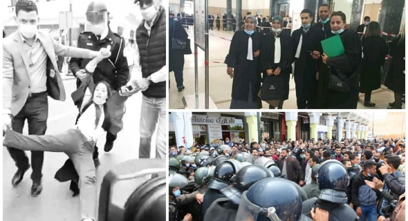 إطلاق سراح الأساتذة المتعاقدين المُعتقلين وعشرات المحامين يؤازرونهم ونقابات تصعد وتدعو للإضراب