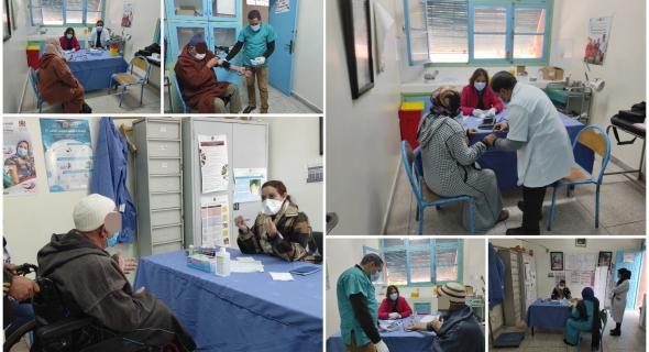 بالصور… مندوبية الصحة بأزيلال تستمر في حملاتها الطبية و تنظم وحدة طبية متخصصة بالمركز الصحي بواويزغت