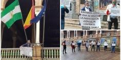 جمعية المهاجرين بالأندلس وأوروبا تنظم وقفة احتجاجية باشبيلية وتطالب بمحاكمة زعيم ميليشيات البوليساريو الذي دخل لاسبانية بهوية مزورة
