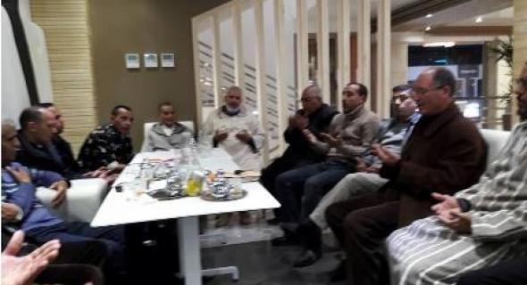 وفد من الكتابة الإقليمية للعدالة و التنمية بأزيلال يعزي أطر حزب الاستقلال في وفاة الزعيم امحمد بوستة