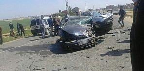 حادثة سير خطيرة بين سيارتين ترسل ضحايا لمستعجلات بني ملال – صور-