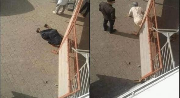 الأمن يعتقل 14 شخصا تسللوا بطريقة مثيرة من تحت حاجز حديدي للخروج من منطقة موبوءة =بلاغ+فيديو=