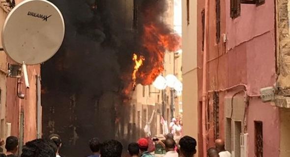 حريق بمحل لإصلاح الأفرشة بخريبكة يخلف خسائر مادية جسيمة (صور)