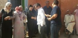 مصطفى الرداد رئيس مجلس جماعة افورار يعزي أسرة الراحل محمد علام الرئيس السابق لمجلس افورار