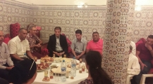 رحال مكاوي عضو اللجنة التنفيدية لحزب الاستقلال يعزي في وفاة علام محمد الرئيس السابق لجماعة افورار