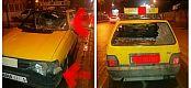 عاجل… هاعلاش تانهضرو… اعتداء خطير على سيارة أجرة صغيرة ببني ملال والأمن يعتقل أحد المعتدين – الصور-