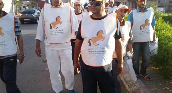 مرشح الاتحاد الدستورى يقتحم قلعة مبديع باقليم الفقيه بن صالح ويستقبل بالثمر والحليب فى قلب البلدية