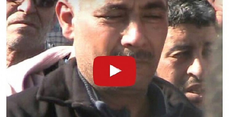 """بالفيديو… من جنازة الشاب الذي توفي برصاص الشرطة ببني ملال وبكاء والده وهو يصرخ :"""" ولدي ماشي مجرم """""""