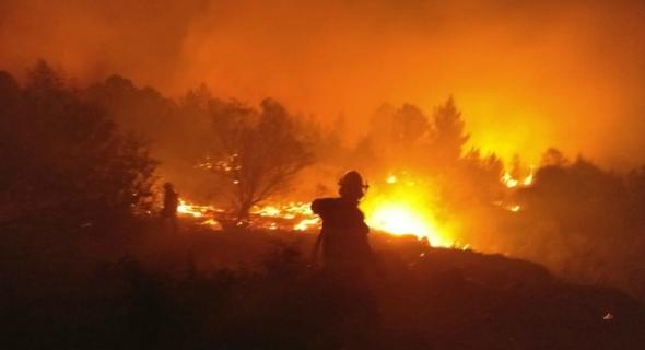 إسرائيل تحترق.. تل أبيب تطلب المساعدة من تركيا واليونان وإيطاليا وقبرص
