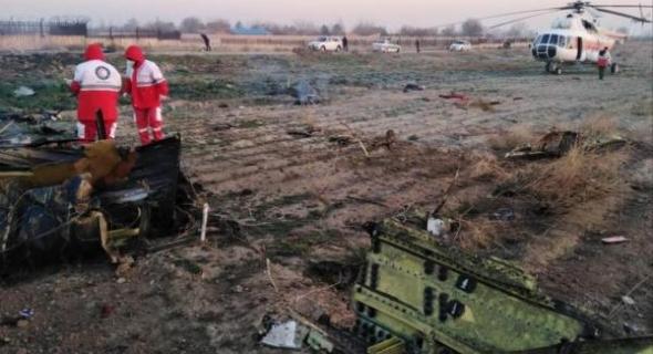 سقوط طائرة مدنية اوكرانية قرب العاصمة الإيرانية طهران ووفاة جميع ركابها 176